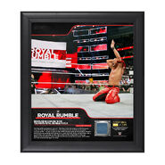 Shinsuke Nakamura Royal Rumble 2018 15 x 17 Framed Plaque w Ring Canvas