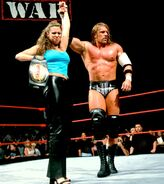 Stephanie mcmahon as womens champion and triple H