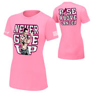 John Cena Rise Above Cancer Pink Authentic women's T-Shirt