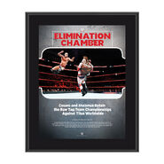 Sheamus & Cesaro Elimination Chamber 2018 10 x 13 Commemorative Photo Plaque