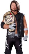 Aj styles wwe champion by nibble t-day5yvc