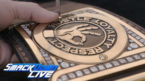 John Cena receives custom plates for his WWE Championship SmackDown LIVE Exclusive, Jan. 31, 2017