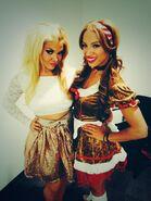 15 - Raquel Diaz and Sasha Banks