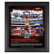 Tony Nese WrestleMania 35 15 x 17 Framed Plaque w Ring Canvas