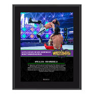 AJ Styles WrestleMania 34 10 x 13 Photo Plaque