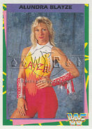 1995 WWF Wrestling Trading Cards (Merlin) Alundra Blayze 30