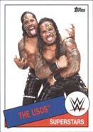 2015 WWE Heritage Wrestling Cards (Topps) The Usos 98