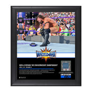Neville WrestleMania 33 15 x 17 Framed Plaque w Ring Canvas