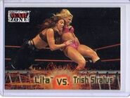 2001 WWF RAW Is War (Fleer) Lita vs. Trish Stratus 66