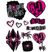 AJ Lee Love Decals