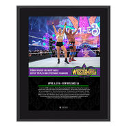 Ronda Rousey & Kurt Angle WrestleMania 34 10 x 13 Photo Plaque