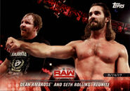2018 WWE Road to Wrestlemania Trading Cards (Topps) Dean Ambrose & Seth Rollins 46