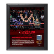Braun Strowman Payback 2017 15 x 17 Framed Plaque w Ring Canvas