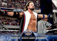 2018 WWE Road to Wrestlemania Trading Cards (Topps) AJ Styles 79