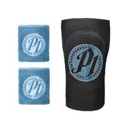 AJ Styles Carolina Blue Wristbands & Elbow Pad 3 Piece Set