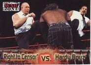 2001 WWF RAW Is War (Fleer) Right to Censor vs. Hardy Boyz 83
