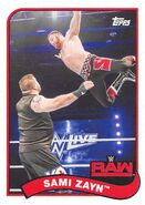2018 WWE Heritage Wrestling Cards (Topps) Sami Zayn 66