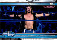 2019 WWE Road to WrestleMania Trading Cards (Topps) AJ Styles 67