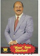 2012 WWE Heritage Trading Cards Mean Gene Okerlund 89