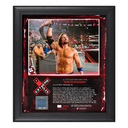 AJ Styles Extreme Rules 2018 15 x 17 Framed Plaque w Ring Canvas