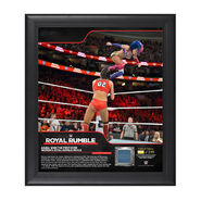 Asuka Royal Rumble 2018 15 x 17 Framed Plaque w Ring Canvas