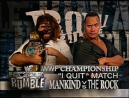 Mankind vs. The Rock Royal Rumble 1999