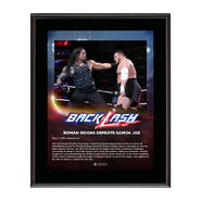 Roman Reigns BackLash 2018 10 x 13 Photo Plaque