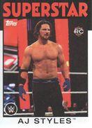 2016 WWE Heritage Wrestling Cards (Topps) AJ Styles 1