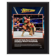 Asuka FastLane 2019 10 x 13 Commemorative Plaque