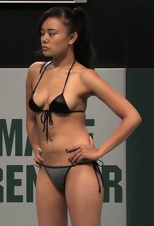 Bikini ass bent over
