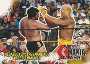 2001 WWF WrestleMania (Fleer) Megabucks vs. Megamaniacs 90