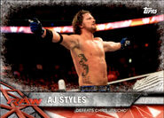 2017 WWE Road to WrestleMania Trading Cards (Topps) AJ Styles 16