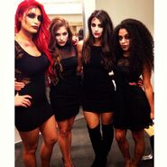 Devin Taylor, Veronica Lane, Eva Marie, Jojo 2013 NXT Halloween