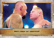 2020 WWE Countdown to WrestleMania (Topps) Brock Lesnar Def. The Undertaker (No.15)