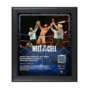 Jinder Mahal Hell In A Cell 2017 15 x 17 Framed Plaque w Ring Canvas
