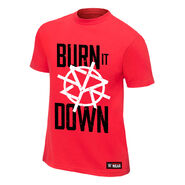 Seth Rollins Burn it Down Red Youth Authentic T-Shirt