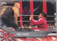 2017 WWE Road to WrestleMania Trading Cards (Topps) The Rock 17