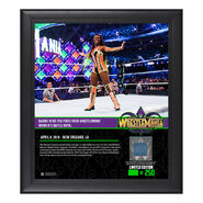 Naomi WrestleMania 34 15 x 17 Framed Plaque w Ring Canvas