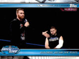 2019 WWE Road to WrestleMania Trading Cards (Topps) Kevin Owens and Sami Zayn (No.63)
