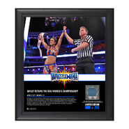 Bayley WrestleMania 33 15 x 17 Framed Plaque w Ring Canvas