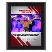 Buddy Murphy Elimination Chamber 2019 10 x 13 Commemorative Plaque