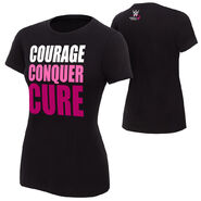 WWE Courage Conquer Cure Women's Black T-Shirt
