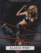 2010 WWE Platinum Trading Cards Alicia Fox 125