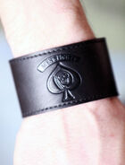 Aces & Eights Leather Arm Band