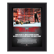 Hell in a Cell 2018 Universal Championship Match 10 x 13 Commemorative Plaque