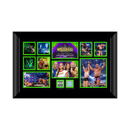 Ronda Rousey & Kurt Angle Signed WrestleMania 34 Commemorative Plaque