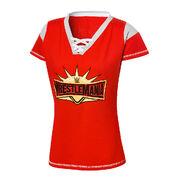 WrestleMania 35 Women's Football Jersey T-Shirt