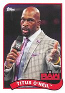 2018 WWE Heritage Wrestling Cards (Topps) Titus O'Neil 82