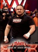 2018 WWE Road to Wrestlemania Trading Cards (Topps) Samoa Joe 13