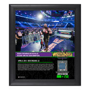Braun Strowman WrestleMania 34 15 x 17 Framed Plaque w Ring Canvas